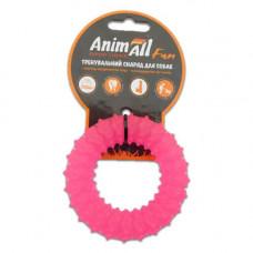 Игрушка AnimAll Fun кольцо с шипами 9 см Коралловое
