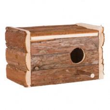 Домик Trixie Natura с жердочкой, для птиц, 21х12,5х13 см
