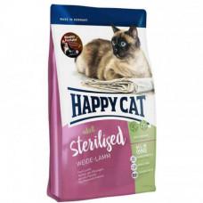 Сухой корм Happy Cat Adult Sterilised для стерилизованных кошек и кастрированных котов, с ягнёнком, 10кг