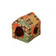Домик-лежак (лежанка) для кошек и собак Мур-Мяу Будочка Коричневый