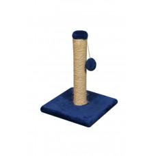 Когтеточка (дряпка) Мур-Мяу Малыш в джутовой веревке Синяя