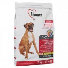 Сухой корм 1st Choice Adult Sensitive Lamb&Fish всех пород собак склонных к аллергии, c ягнёнком и рыбой, 350гр