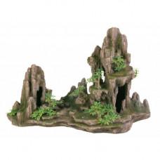 Грот для рыбок Trixie - Скалы с пещерой с растениями, 45х22х28.5 см