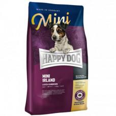 Сухой корм Happy Dog Mini Irland для взрослых собак мелких пород с проблемами кожи и шерсти, с лососем, 8кг