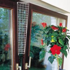 Защитные сетки Flamingo Window Prot Grille на окна для котов, боковые ограничители, белый, 56.5х9.5-14.5 см