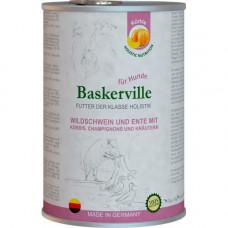Влажный корм Baskerville Holistic Rind und Lachs для собак, утка и кабан с тыквой и зеленью, 400 г