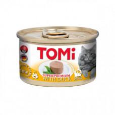 Консервы Tomi Duck с уткой, для котов, мусс, 85гр