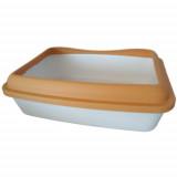 Туалет под наполнитель AnimAll 41х31х13см, полупрозрачный оранжевый