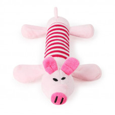Игрушка Плюшевая Taotaopets 033322 для домашних животных Розовая Свинья