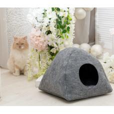 Домик для животных Digitalwool палатка с подушкой Серый