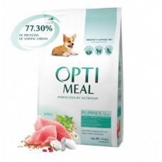 Сухой корм Optimeal для щенков всех пород, с индейкой, 4кг
