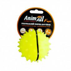Игрушка AnimAll Fun мяч каштан для собак, 7 см, желтая