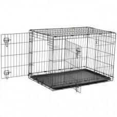 Клетка Savic Dog Cottage для собак, черная, 76 х 49 х 55 см