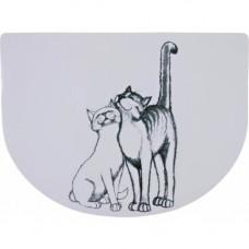 Коврик под миску Trixie Pussycat для кошек, белый, 40 х 30 см