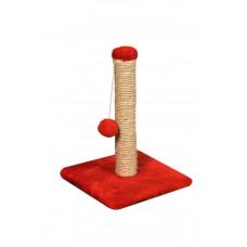 Когтеточка (дряпка) Мур-Мяу Малыш в джутовой веревке Красная