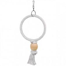 Игрушка Flamingo Ring веревочное кольцо, для попугаев, маленькая, 19.5х5х36 см