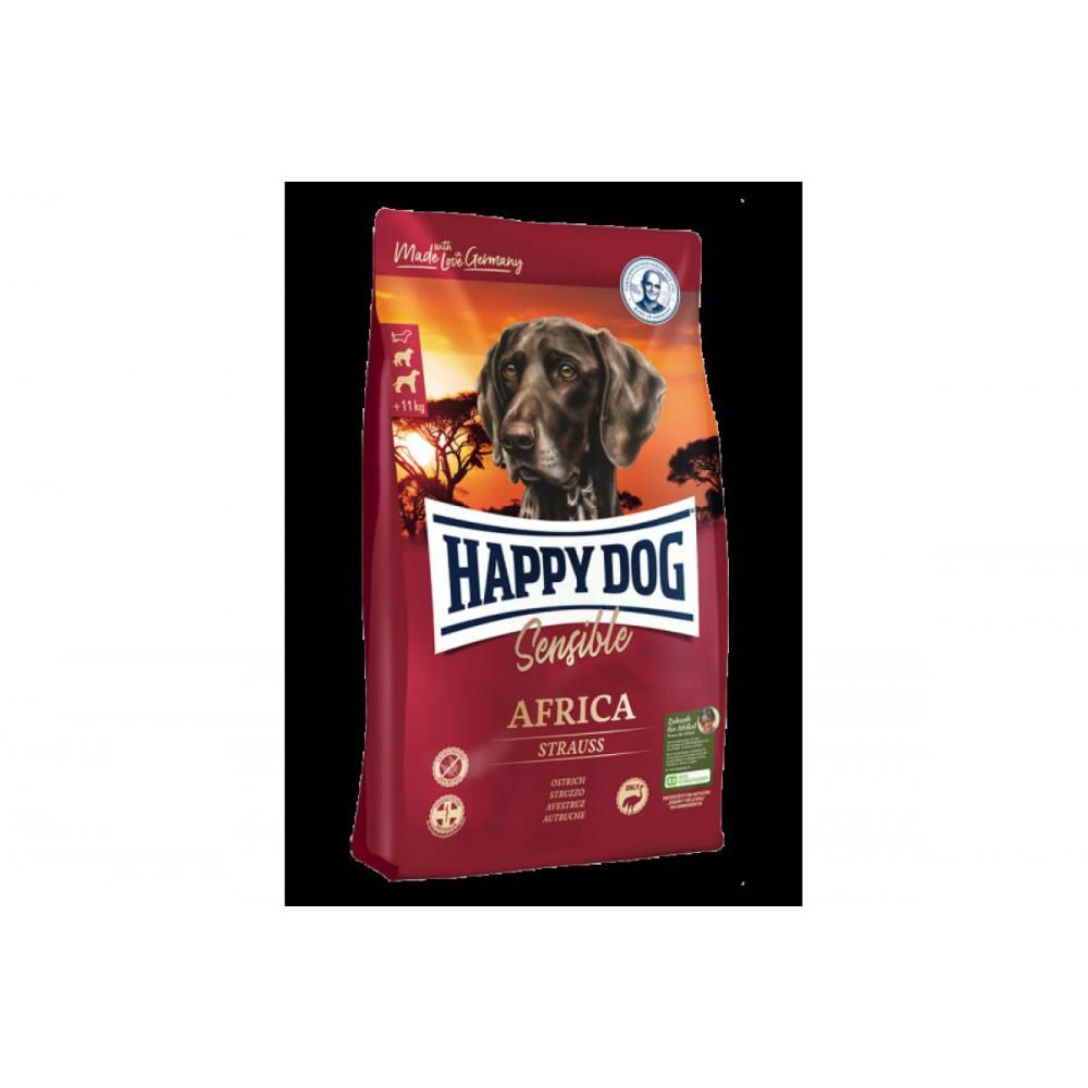 Корм для взрослых собак с мясом страуса и картофельными хлопьями Happy Dog Sensible Africa 12,5 кг
