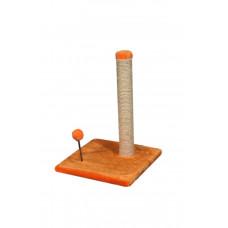 Когтеточка (дряпка) Мур-Мяу Пружина Оранжевая