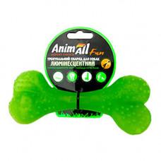 Игрушка AnimAll Fun кость для собак, люминесцентная, 15 см, зеленая