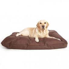 Бескаркасный лежак для собак Beans Bag из ткани Оксфорд стронг 55х35 см с чехлом Коричневый
