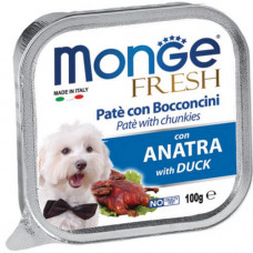 Влажный корм MONGE DOG FRESH c уткой 0,1 кг