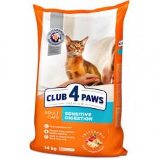 Сухой корм Клуб 4 Лапы Sensitive Digestion Premium для взрослых кошек с чувствительным пищеварением, 14 кг