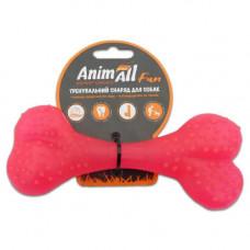 Игрушка AnimAll Fun кость 15 см Коралловая