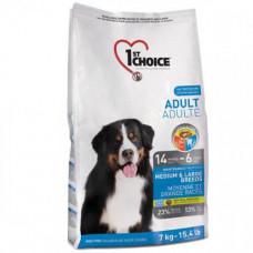 Сухой корм 1st Choice Adult Medium&Large Chicken для взрослых собак средних и крупных пород, с курицей, 15 кг