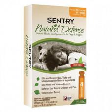 Капли Sentry Natural Defense от блох и клещей, для собак весом 7-18 кг , 3 мл, 4 шт, цена за 1 шт