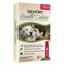 Капли Sentry Natural Defense, от блох и клещей, для собак более 18 кг, 4.5 мл, 3 шт, цена за 1 шт