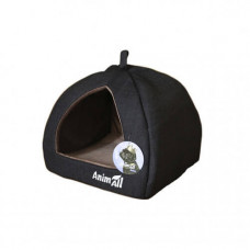 Домик, AnimAll Piter M, для собак, серый, 41×41×32 см