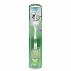 Зубная щетка TropiClean Triple Flex Small для собак мелких пород