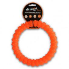 Игрушка AnimAll Fun кольцо с шипами 20 см Оранжевое