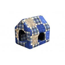 Домик-лежак (лежанка) для котов и собак Мур-Мяу Будочка Синий