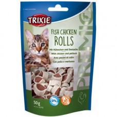 Лакомство Trixie рулеты с курицой и минтаем, для кошек, 50гр