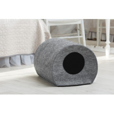 Домик для животных без подушки Digitalwool Бочка 33 х 50 х 38 см Серый
