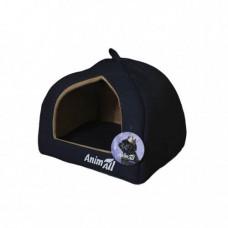 Домик, AnimAll Piter S, для собак, темно-синий, 38×38×29 см