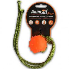 Игрушка AnimAll Fun шар с канатом 4 см Оранжевая