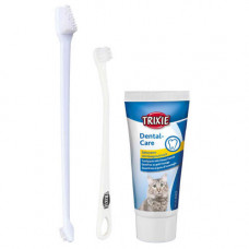 Набор для полости рта Trixie для котов, паста и 2 щетки