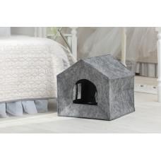 Домик для животных с подушкой Digitalwool Теремок 40 х 40 х 40 см Серый