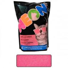 Наполнитель Neon Litter Clump комкующийся, кварцевый, неоновый, розовый, 1.81кг