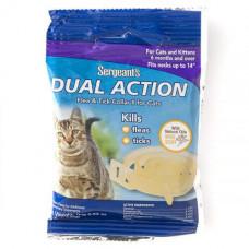 Ошейник SENTRY Sergeants Dual Action от блох и клещей, для котов, С до 35.5см