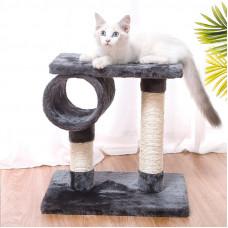 Когтеточка для кота с полками Taotaopets 046610 40x40 см Grey