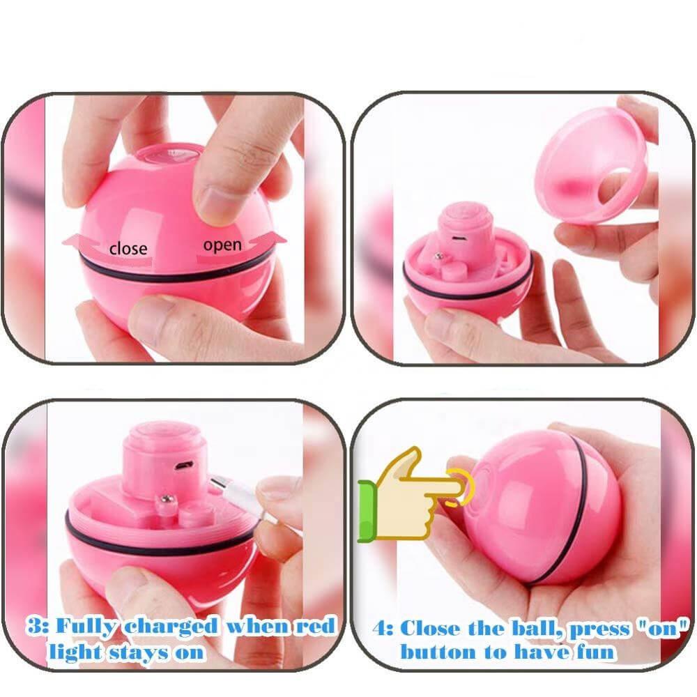 Игрушка для кошки Sundy USB smart мяч-шарик с хаотичным движением и красной точкой Красный