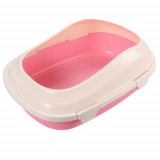 Туалет со ступеньками AnimAll P 1121 для взрослых кошек, розовый
