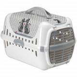 Переноска Moderna Trendy Runner Cats In Love для кошек, пластик, 49×32×30 см