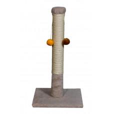 Когтеточка (дряпка) Мур-Мяу Интер-2 в джутовой веревке Бежевая