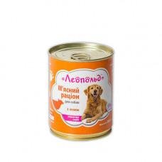 Консерва Леопольд для собак рацион с ягненком 360гр