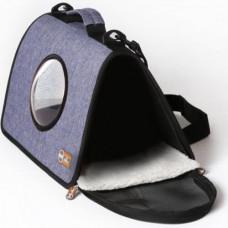 Сумка-переноска K&H Lookout для собак и кошек Синяя S 43×27×23 см