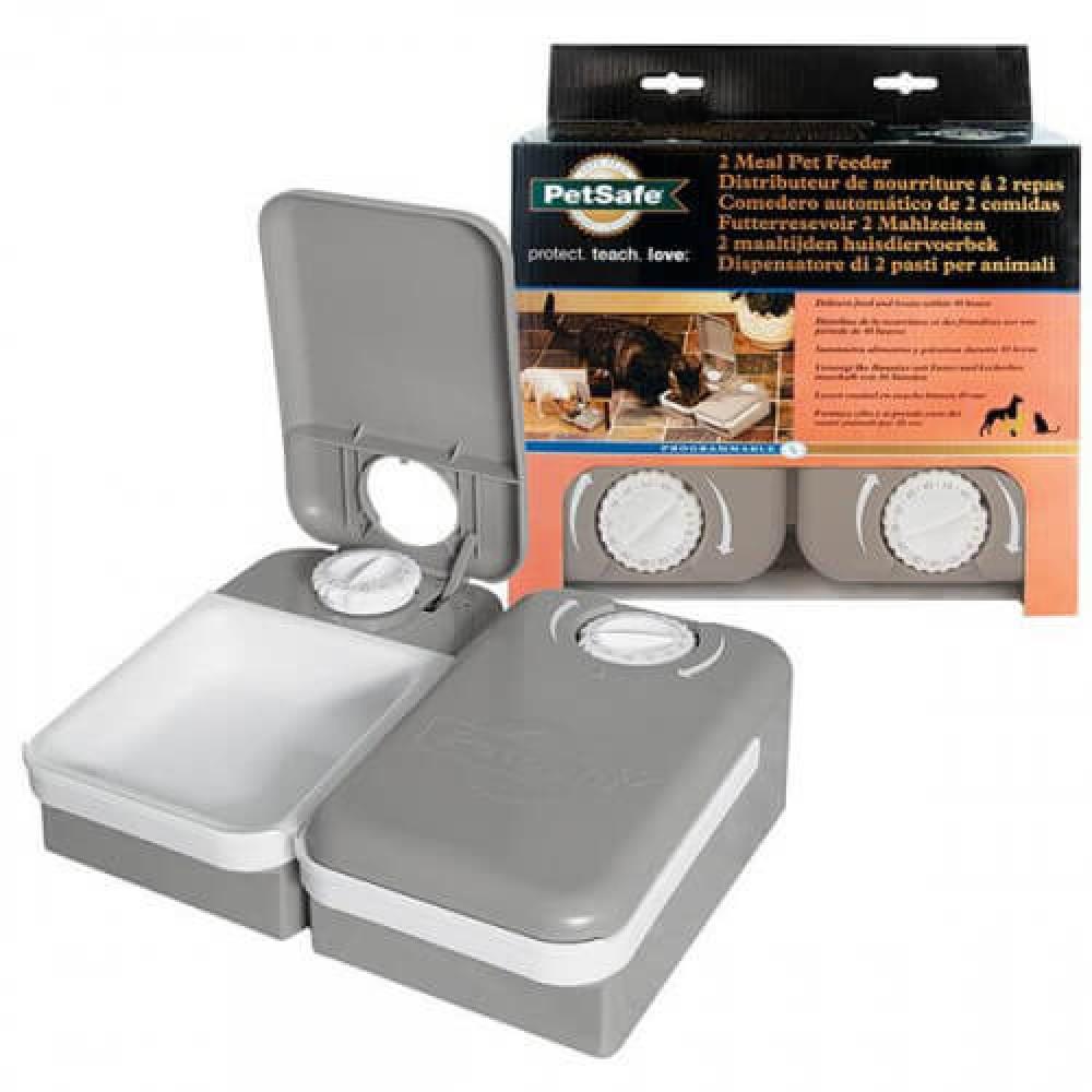 Кормушка PetSafe Eatwell 2 Meal Pet Feader автоматическая, для котов и собак, 21.59х26.16х8.13см